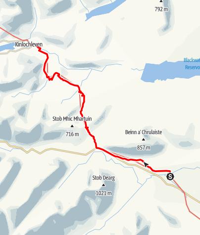 Karte / Kingshouse to Kinlochleven