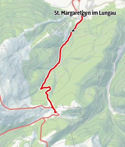 Karte / Zustieg von Sankt Margarethen zur Neuen Bonner Hütte