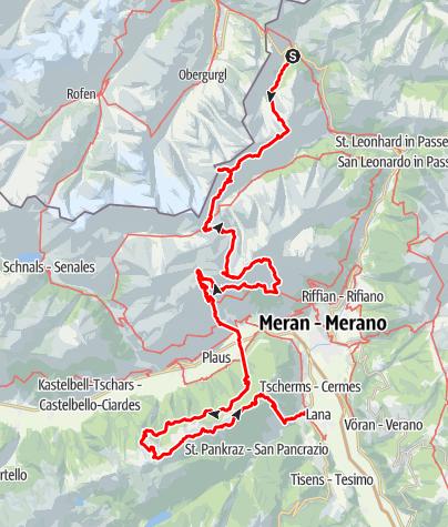 Karte / Durch das Herz der Texelgruppe zum Alpenrosensteig