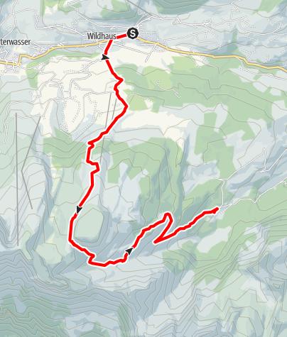 Karte / Wildhaus - Gamserrugg - Voralp
