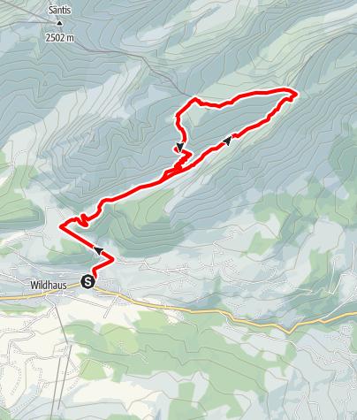 Karte / Wildhaus - Chreialpfirst - Zwinglipass - Wildhaus