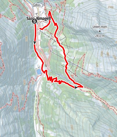 Karte / Rundweg Furggstalden