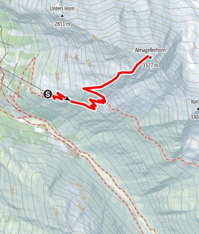 Karte / Almagellerhorn