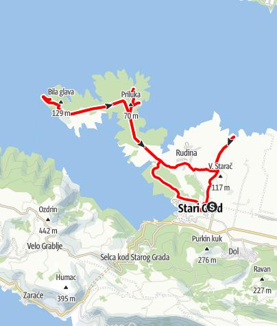 Map / Hvar - Kabalroute