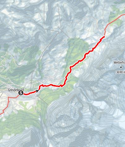 Karte / Grindelwald - Unterer Lauchbühl - Grosse Scheidegg