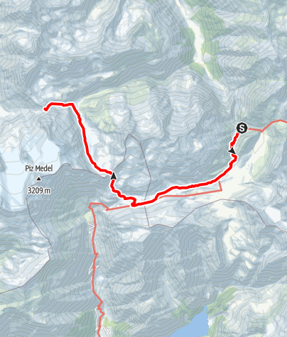 Karte / Kronenwanderung: Terrihütte - Medelserhütte