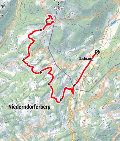 Karte / Mit dem Mountainbike von Sachrang zum Spitzsteinhaus - Bergsteigerdörfer Schleching & Sachrang