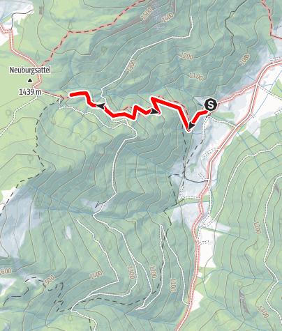 Karte / Almenwanderung  auf die Neuburgalm - Radmer
