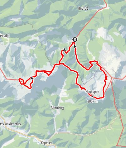 """Map / """"Weg der Sonne"""" - von Hinternasswald über das Schneealpenhaus und das Habsburghaus"""