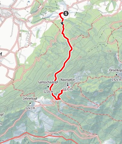 Map / Kaisertour 1. Tag