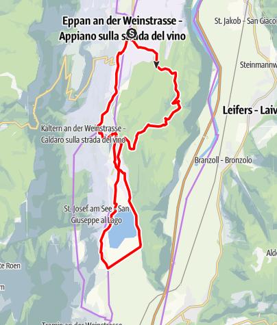 Karte / Genießerrunde von Montiggl zum Kalterer See