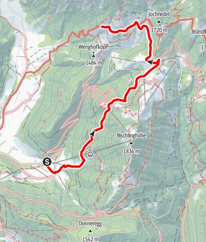 Map / Zustieg auf die Dr.-Heinrich-Hackl-Hütte von Zaglau über die Strussigalm