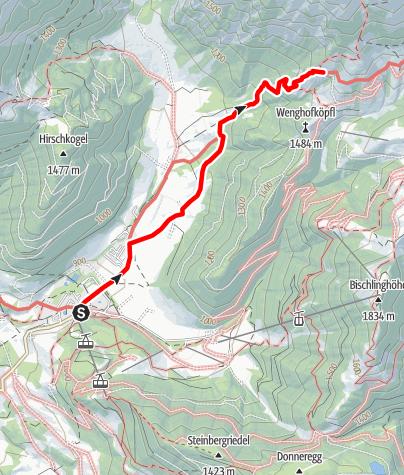 Karte / Zustieg auf die Dr.-Heinrich-Hackel-Hütte von Werfenweng