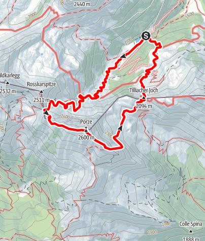 Karte / Porze - Überschreitung
