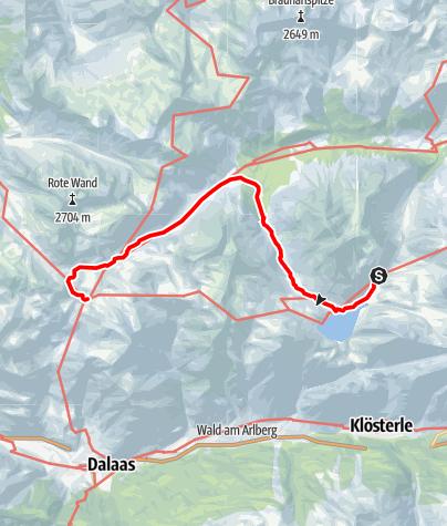 Karte / Ravensburger- zur Freiburger Hütte über das Lechtal