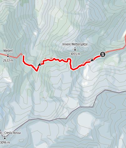 Map / Bremer Hütte- Nürnberger Hütte