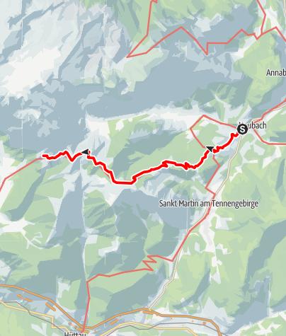 Map / Zustieg auf die Dr.-Heinrich-Hackel-Hütte von Lungötz