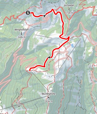 Karte / Übergang von der Dr.-Heinrich-Hackel-Hütte zur Freilassinger Hütte