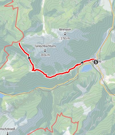Karte / Zustieg auf die Ennstaler Hütte von Hieflau