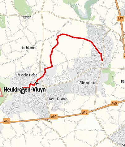 Karte / Von Vluyn nach Neukirchen