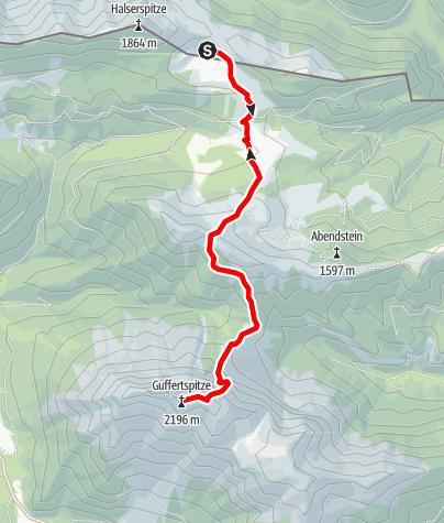 Karte / Guffert (2195 m) von der Bayerischen Wildalm