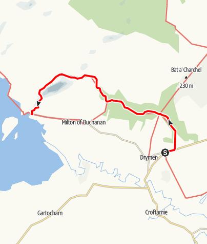 Karte / Drymen to Balmaha