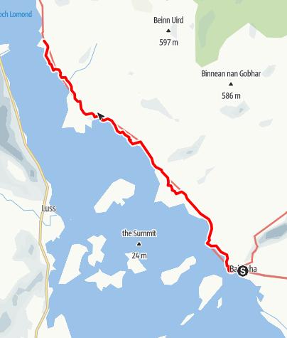 Karte / Balmaha to Rowardennan
