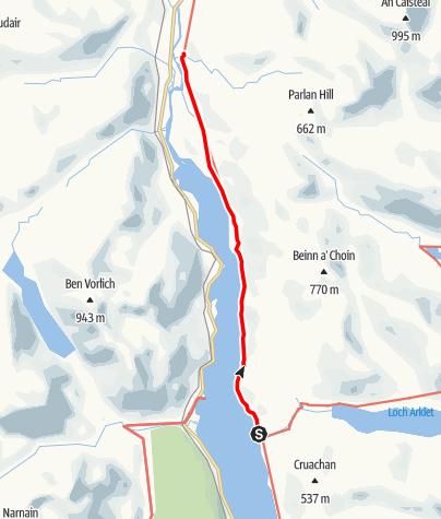 Karte / Inversnaid to Inverarnan