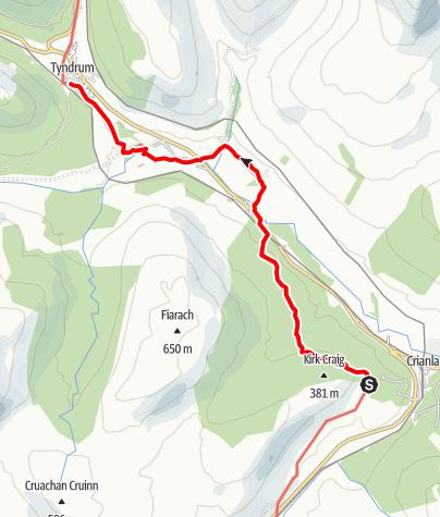 Karte / Crianlarich to Tyndrum