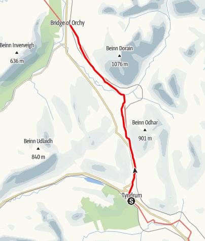Karte / Tyndrum to Bridge of Orchy