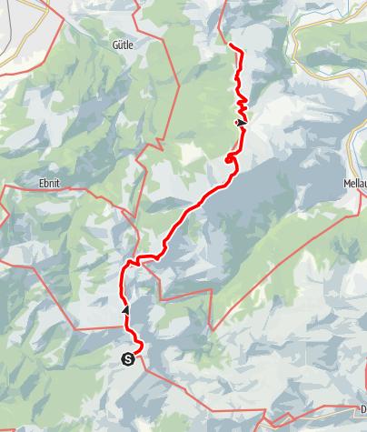 Map / Übergang vom Freschenhaus auf die Lustenauer Hütte