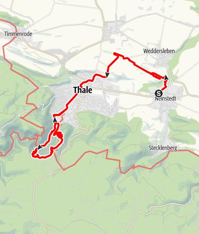 Map / Von der Teufelsmauer in das Bodetal im Harz