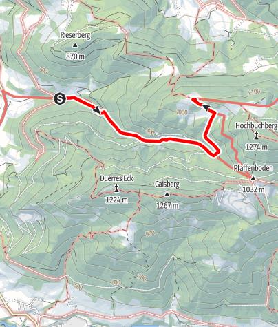 Map / Zustieg auf die Grünburger Hütte vom Parkplatz Dorngraben