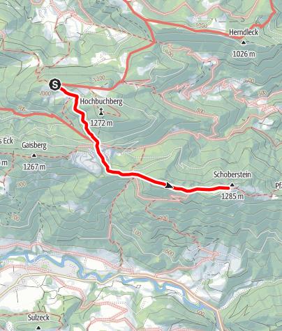 Map / Übergang von der Grünburger Hütte zum Schobersteinhaus