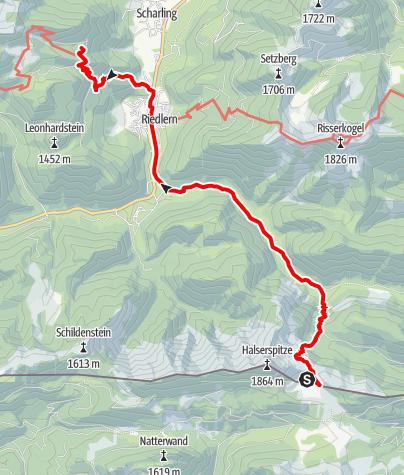 Karte / Von der Bayerischen Wildalm über Kreuth zur Gründhütte