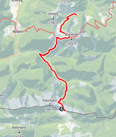 Karte / Von der Bayerischen Wildalm über das Grubereck zur Blankensteinhütte