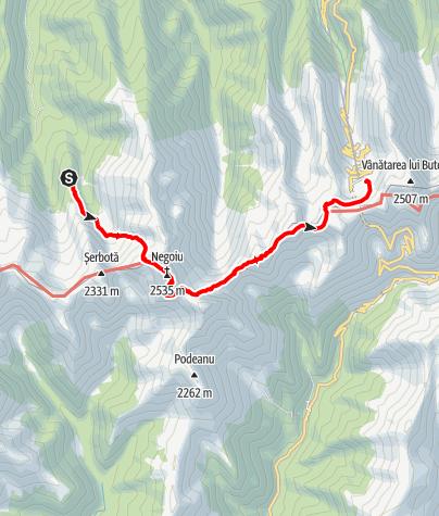 Karte / Fagaras Etappe 2: Cabana Negoiu - Cabana Balea Lac