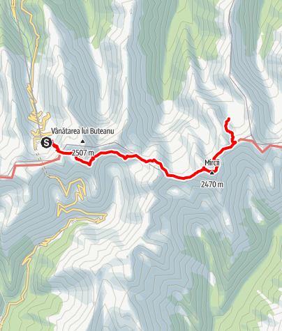 Karte / Fagaras Etappe 4: Cabana Balea Lac - Cabana Podragul