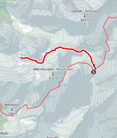 Karte / Von der Brixnerhütte zur Sterzinger Hütte