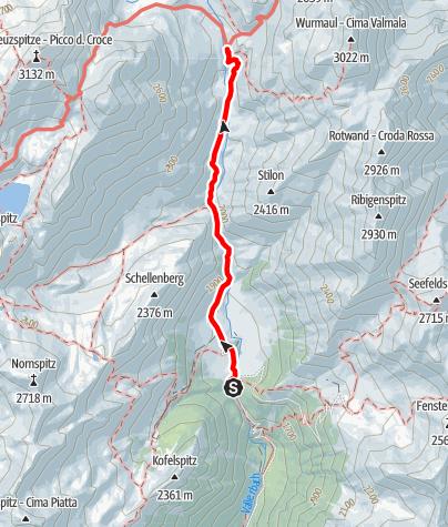 Karte / Von der Fane Alm zur Brixnerhütte