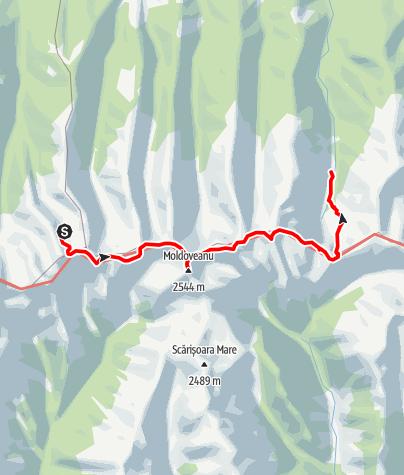 Karte / Fagaras Etappe 5: Cabana Podragul - Cabana Valea Sambetei