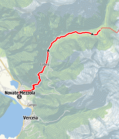 Karte / Sentiero Roma Etappe 1 – Von Novate Mezzola zum Rifugio Brasca