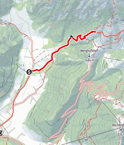 Map / Zustieg zur Dr. Heinrich-Hackel-Hütte von Wengerau