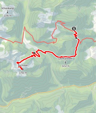 Karte / Von der Gründhütte zur Tegernseer Hütte