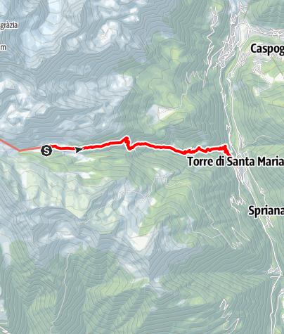 Karte / Sentiero Roma Etappe 6 – Vom Rifugio Bosio nach Torre di Santa Maria
