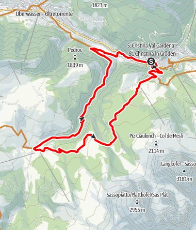 Karte / Val Saltria