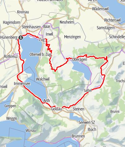 Karte / Martin Elmigers Lieblingstour
