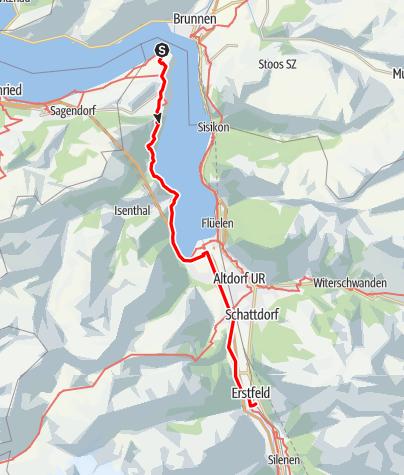 Karte / Via Gottardo: Treib - Erstfeld