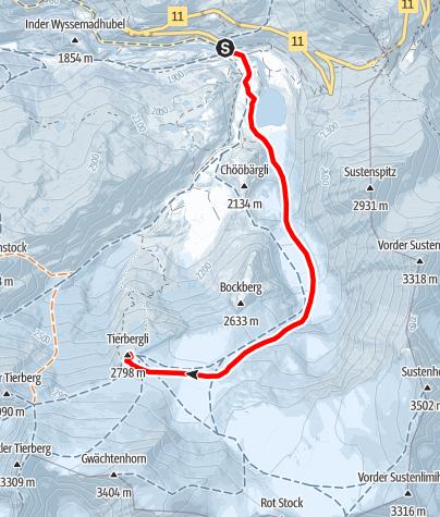 Karte / Tierberglihütte