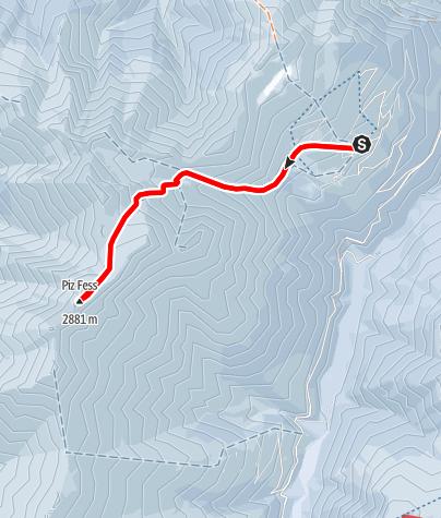 Karte / Piz Fess (2873 m.ü.M.)